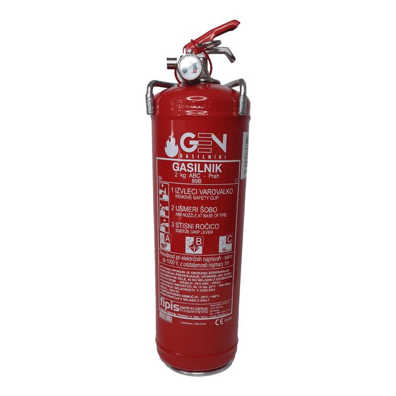 gasilni aparat 2kg obvezna oprema