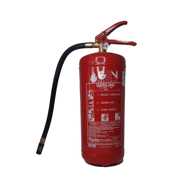 gasilni aparat 5kg obvezna oprema